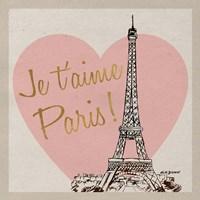 Je t'aime Paris! Fine Art Print