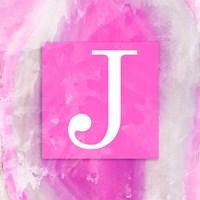 Watercolor Agate Monogram (J) Fine Art Print