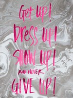 Never Give Up Grey Marble Fine Art Print