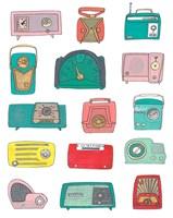 Retro Radios Fine Art Print