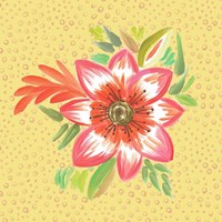 Bright Flower on Dots Fine Art Print