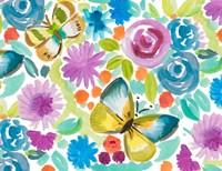 Tropical Butterfly Garden Fine Art Print