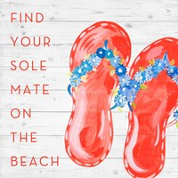 Find Your Sole Mate on the Beach Fine Art Print