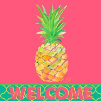 Punchy Pineapple Welcome Fine Art Print