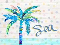 Palm Tree Near the Sea Fine Art Print