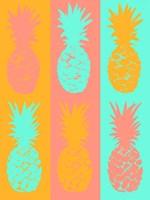 Vibrant Striped Pineapples Fine Art Print