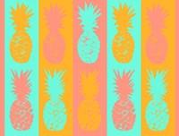 Vibrant Pineapples Fiesta Fine Art Print