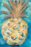 Blue Gold Pineapple Fine Art Print