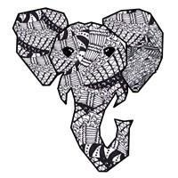 Retro Elephant Fine Art Print