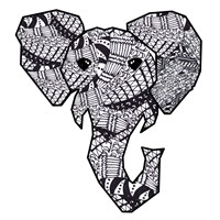 Retro Elephant Fine Art Print
