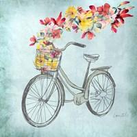 Floral Day Bike I Fine Art Print
