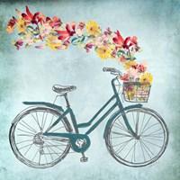 Floral Day Bike II Fine Art Print