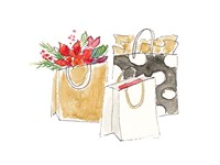 Holiday Shopping Bags I Fine Art Print