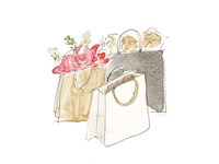 Holiday Shopping Bags II Fine Art Print