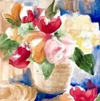 Bright Flower Basket Fine Art Print