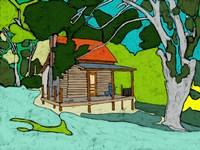 Cabin in the Woods Fine Art Print