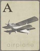 A is for Airplane Fine Art Print