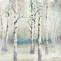 Watercolor December Birch II Fine Art Print