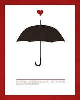 Sharing an Umbrella Fine Art Print