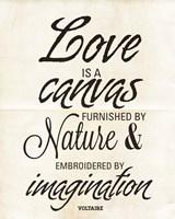 Love is a Canvas Fine Art Print