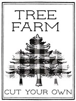 Tree Farm Buffalo Plaid Fine Art Print