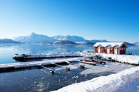 Fishing Dock on the Fjord Fine Art Print