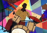 Jazz Drummer Fine Art Print