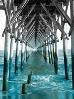 Teal Dock I Fine Art Print