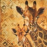 Safari Mother and Son I Fine Art Print