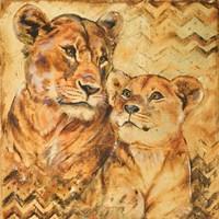 Safari Mother and Son II Fine Art Print
