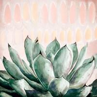 Modern Green Agave Fine Art Print