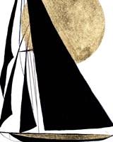 Midnight Black Sailing Fine Art Print