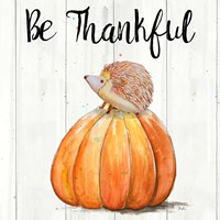 Be Thankful Harvest Hedgehog II Fine Art Print