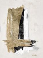 Gold and Black on Beige Fine Art Print