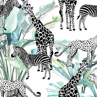 Patterned Safari Fine Art Print