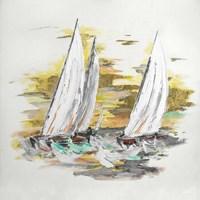 Sailing at Sunset II Fine Art Print