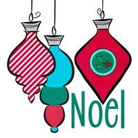 Joyful Christmas Ornaments III Fine Art Print