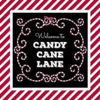Welcome to Candy Cane Lane Fine Art Print