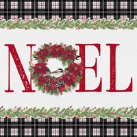 Chickadee Christmas Red III Noel Fine Art Print