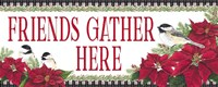Chickadee Christmas Red - Friends Gather horizontal Fine Art Print
