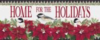 Chickadee Christmas Red - Home for the Holidays horizontal Fine Art Print