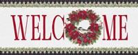 Chickadee Christmas Red - Welcome Fine Art Print