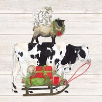 Christmas on the Farm VII Trio Facing right Fine Art Print