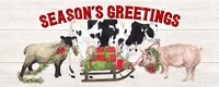 Christmas on the Farm - Seasons Greetings Fine Art Print