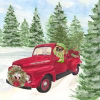 Dog Days of Christmas IV Truck Fine Art Print