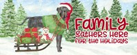 Dog Days of Christmas - Family Gathers Fine Art Print