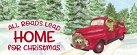 Dog Days of Christmas - Roads Lead Home Fine Art Print