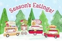 Food Cart Christmas - Seasons Eatings Fine Art Print