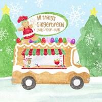 Food Cart Christmas I Gingerbread Framed Print