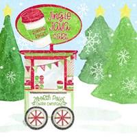 Food Cart Christmas II Jingle Java Framed Print